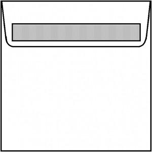 Artoz Perga Pastell Briefumschlag Mandarin quadratisch 160 x 160 mm haftklebend