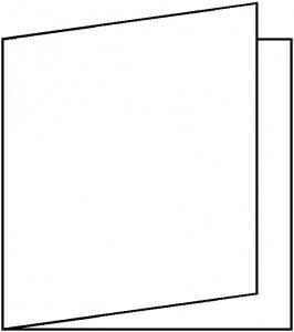 Artoz Perga Pastell quadratische Klappkarte Frost 155 x 155 mm